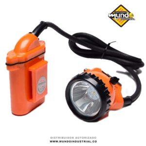 Linterna Minera Kl5 Naranja Recargable + cargador lámpara minera