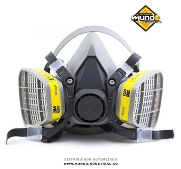 Mascarilla Respirador 3m 6200 con cartucho 6003