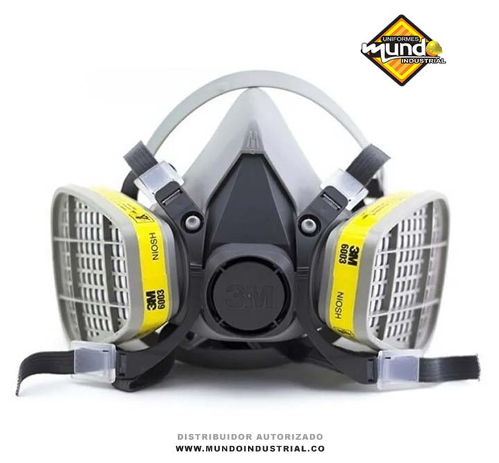 Respirador 3m 6200 con cartucho 6003