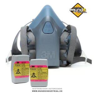 Mascarilla respiratoria 3M media cara con filtros 7093c