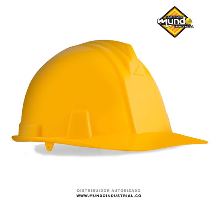 casco de seguridad industrial dieléctrico amarillo