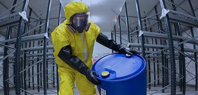 Elementos de protección personal para sustancias químicas