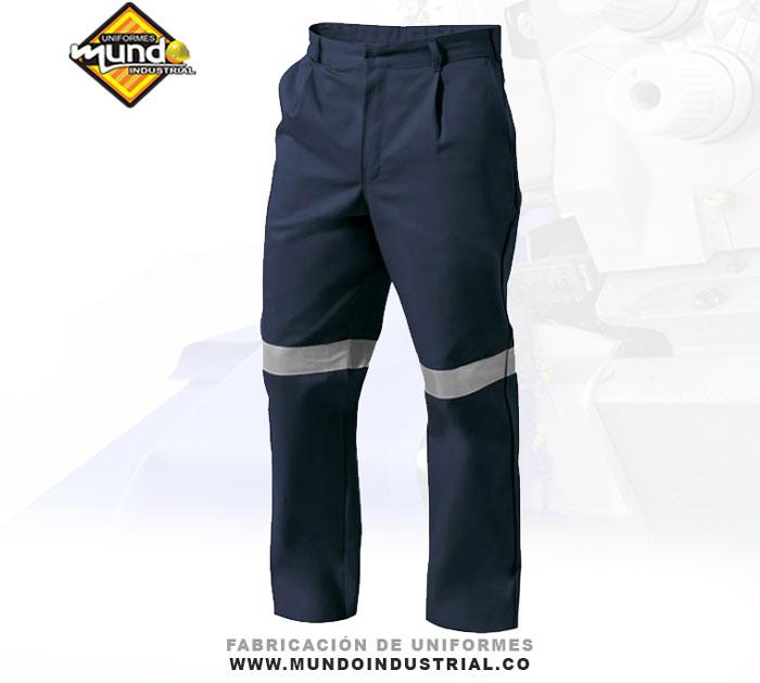 Pantalon con reflectivo para hombre dotacion uniformes cucuta