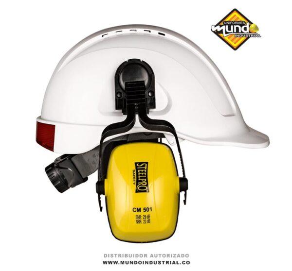tapa oídos tipo copa para insertar en cascos steelpro protector auditivo