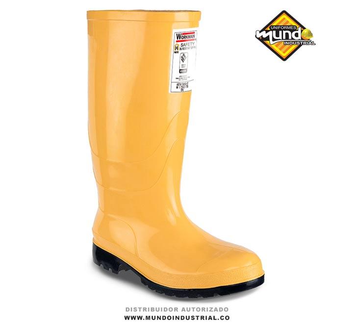 Bota Workman Safety Oil Resistant S/P Pu Bota pvc con puntera