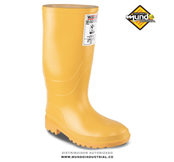 Bota plastica pvc Workman safety food industry amarilla
