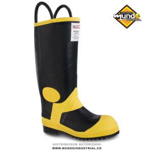 "Botas PVC workman rubber fireman E nomex 13"" negra"