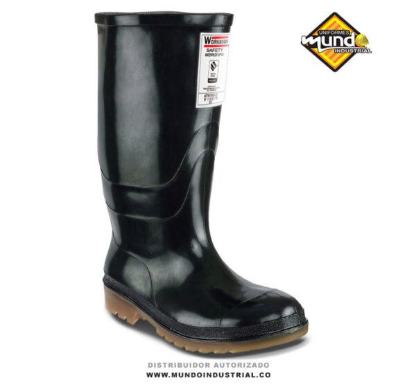 Botas PVC Workman Safety Waterproof S/P Pu Negra