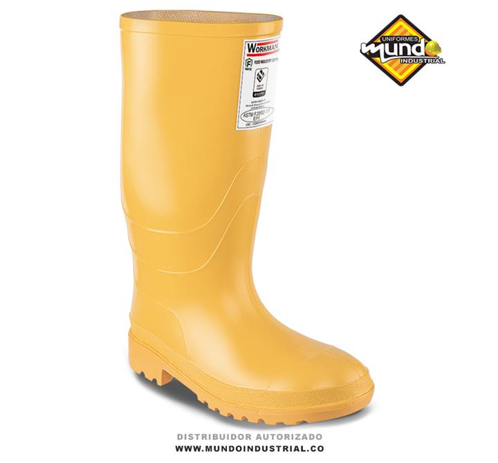 Bota Pvc Workman Safety Food Industry Amarilla