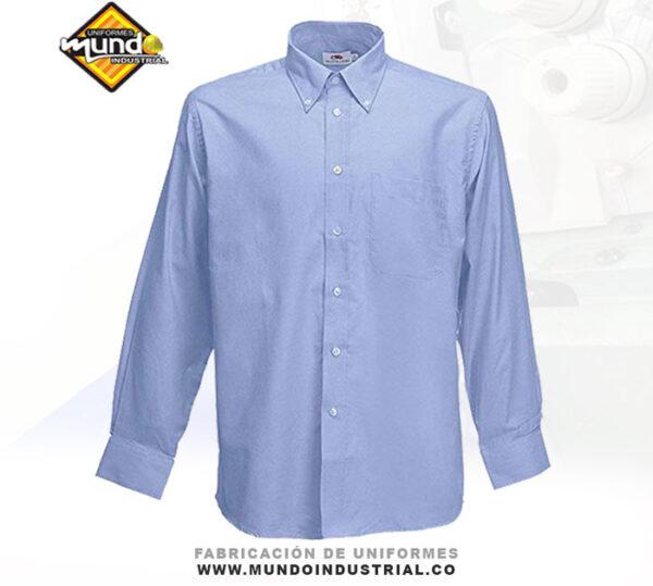Camisa Oxford para uniformes dotación para hombre
