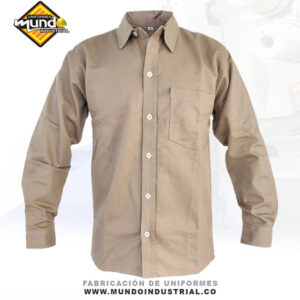 Camisa en dril manga larga para hombre cucuta