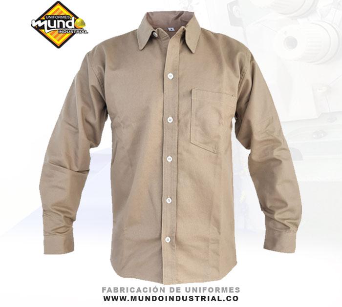 Camisa en dril manga larga para hombre