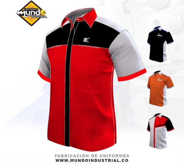 Camiseta Tipo Racing para uniformes empresariales