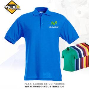 Camiseta tipo polo con bordado personalizado para uniformes