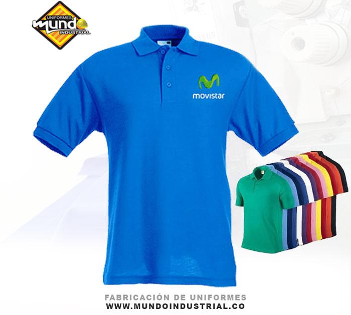 Camiseta tipo polo con bordado personalizado