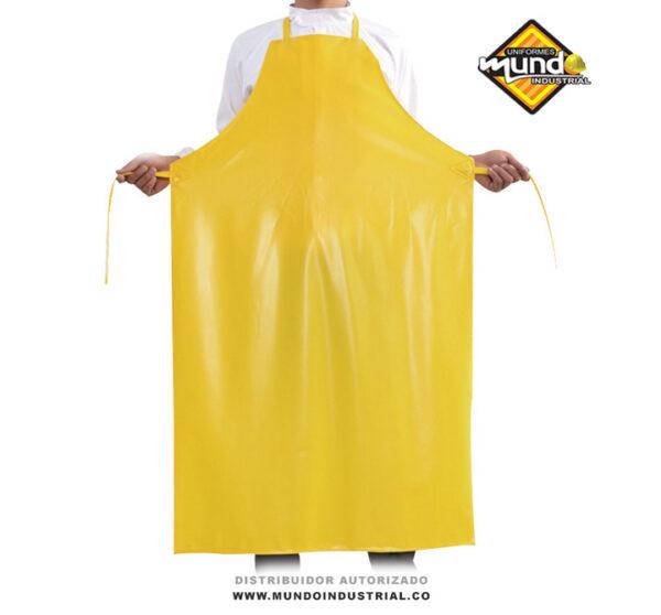 Delantal pvc amarillo impermeable para agroindustria