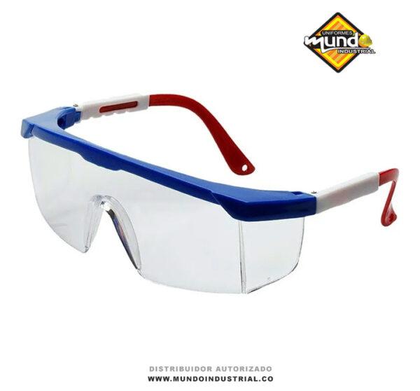 Gafas protección tricolor lente claro protección uv ajustables