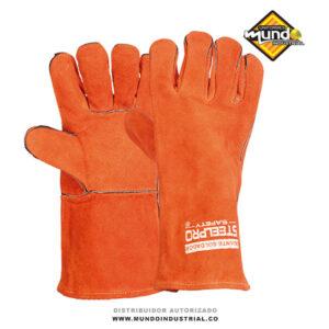 Guante soldador steelpro colombia carnaza naranja