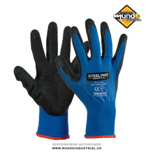 Guantes multiflex poliester latex steelpro safety