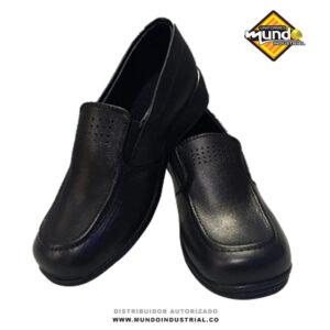 Mocasín mujer en cuero negro zapatos dotacion empresarial para dama