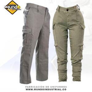 Pantalón tipo camuflado en dril para hombre y mujer