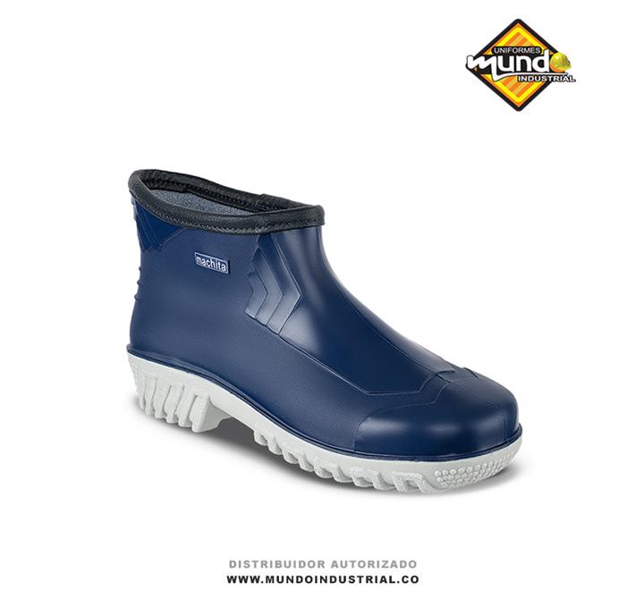 Zapaton Machita Azul Botines de caucho para mujer 1