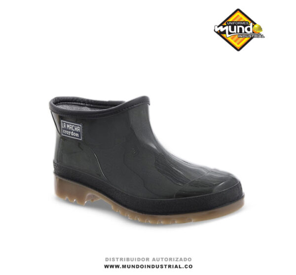 Zapaton Machita Negro Botin plástico para mujer