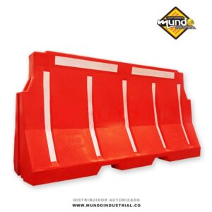 barrera plástica tipo maletín seguridad vial precio