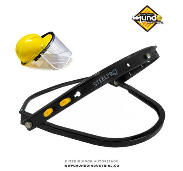 basculante steelpro adaptador plástico porta visor para casco