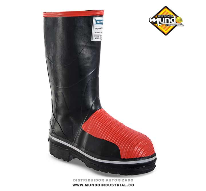 Bota Croydon Industrial Rubber Miner Negro