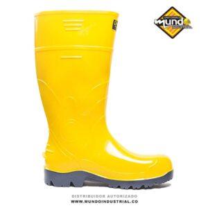 Bota robusta guerrera hidrocarburos seguridad amarilla