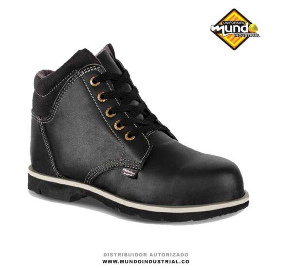 botas de seguridad workman en cuero liso 202 negra