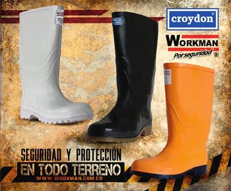 Botas pvc para la construcción botas caucho croydon