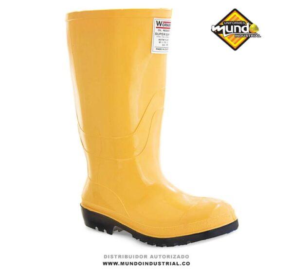 Botas pvc workman super safety oil resistant