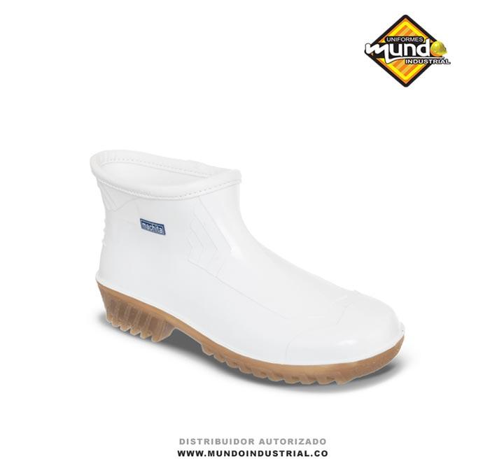 Zapaton Machita Blanco Botines pvc mujer