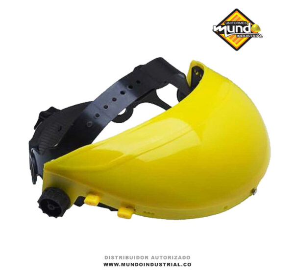 Casquete porta visor amarillo con rachet