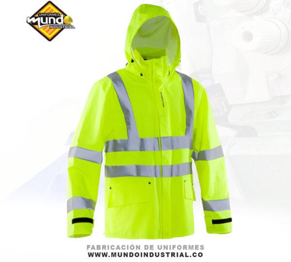 chaqueta de trabajo en obra ropa alta visibilidad