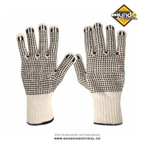guante hilaza con puntos PVC 2 caras