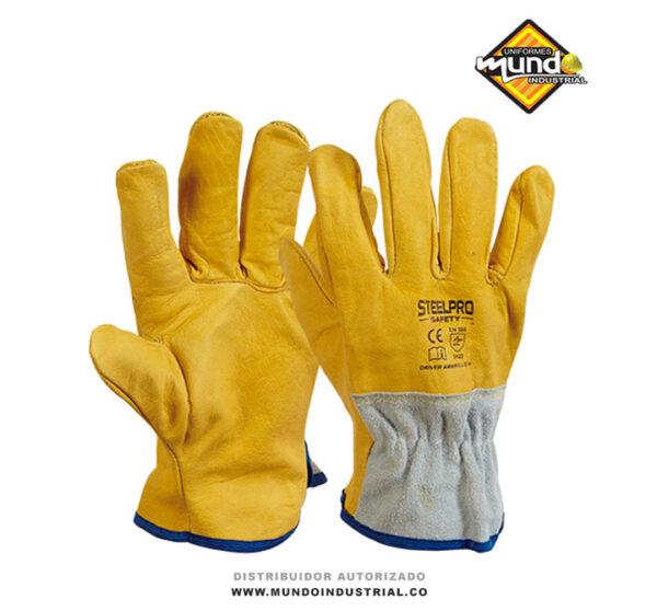 guante steelpro driver amarillo