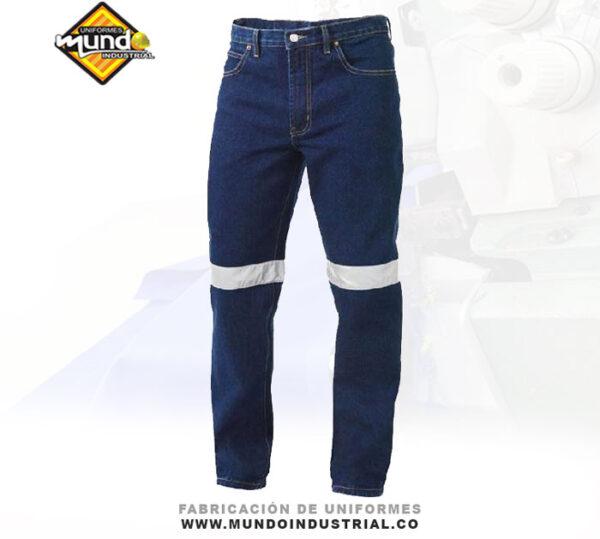 Jeans de trabajo con reflectivo jean de dotación industrial