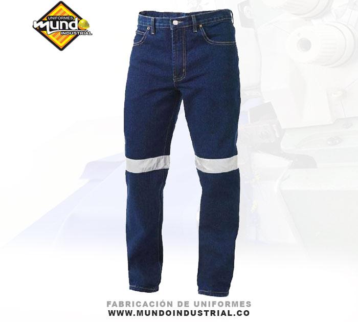 Jeans de trabajo con reflectivo jean de dotacion
