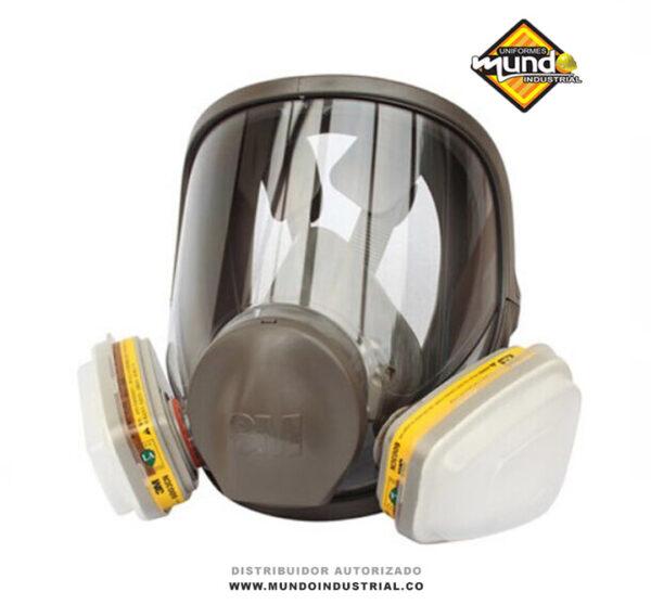 mascara full face 3m 6800 con filtro 6003 para vapores organicos