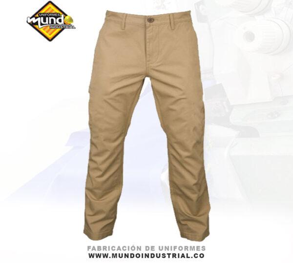 pantalón dril hombre tipo jean clásico dotación