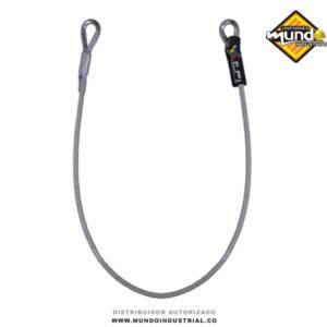 Anclaje Portátil 2 argollas cable de acero