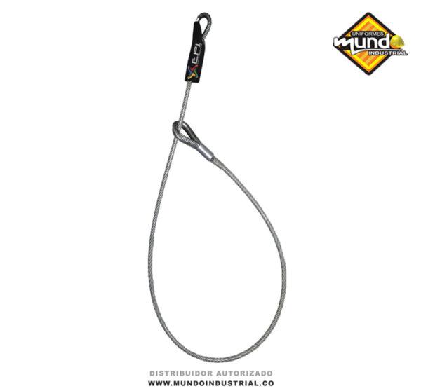 Anclaje Portátil 2 argollas cable de acero galvanizado