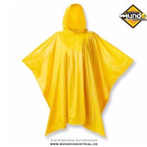 Capa impermeable amarilla con Capucha