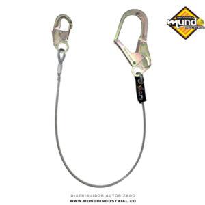 Eslinga de posicionamiento en cable de acero galvanizado de 1/4