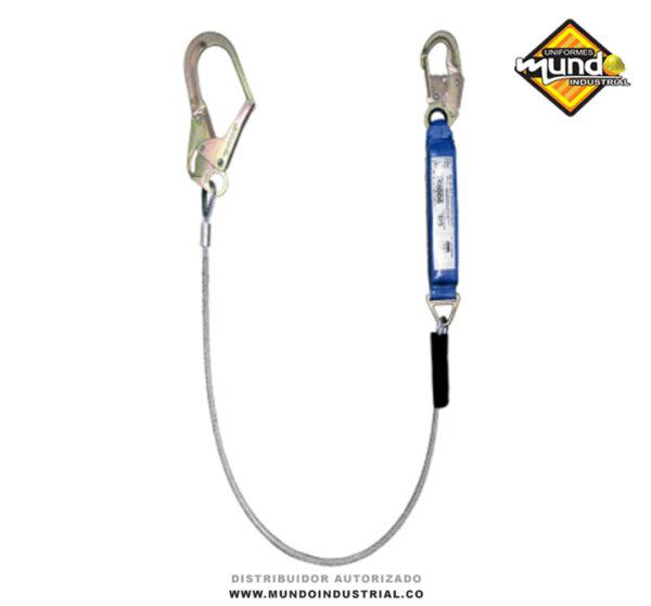 Eslinga de tención en cable de acero y absorbedor de impacto