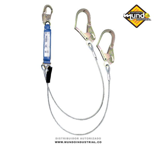 Eslinga en Y de tención de caídas en cable de acero