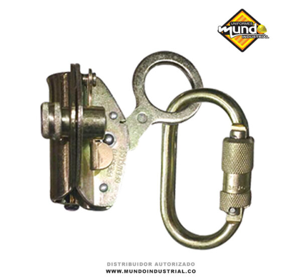 Freno para cuerda 14-16mm con mosquetón de conexión